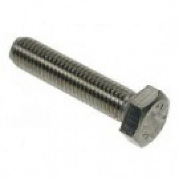 M5 x 50 Hex Setscrews Grade 8.8 BZP Packed in 100's